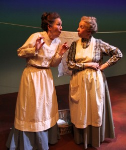 Margo Sampson as Rachel Lynde & Carroll Godsman as Marilla Cuthburt.