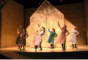 "From the 2008 production in Summerside. The girls singing ""Mr. Blythe,"" which features the lyric: ""Gilbert Blythe, The Best Looking Boy on PEI."""