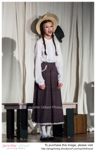 One of the actresses playing Anne of Green Gables the opening night of The Spirit of Maud. (copyright permission by Marion Abbot. Jennifer Gilbert Photography.)