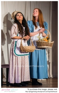 """Rebecca Michielin and  Olivia Wallace playing """"Anne"""" and """"Diana"""" the opening night of The Spirit of Maud. (copyright permission by Marion Abbot. Jennifer Gilbert Photography.)"""
