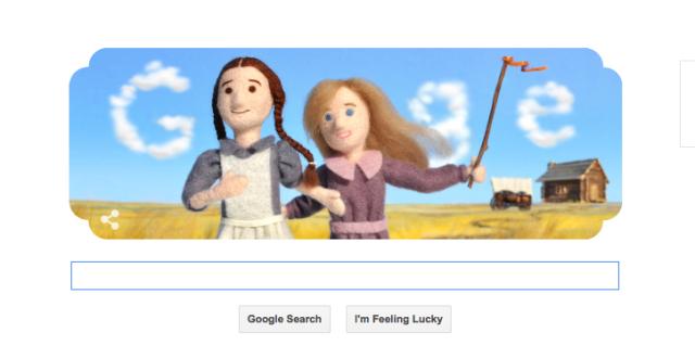 Laura Ingalls Wilder Google Doodle