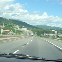 On the road in New Brunswick